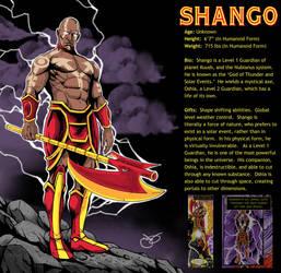 Shango Character Card by lyonsartandmedia