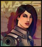 Mass Effect - Ashley Williams by lux-rocha