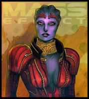 Mass Effect - Samara by lux-rocha