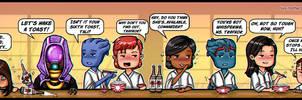 Mass Effect - Let's Drink! by lux-rocha