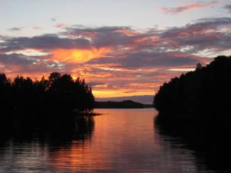 Sunset in Finland by Manjsche