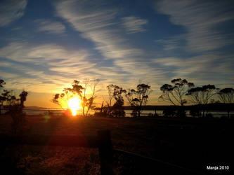 Sunrise in Tasmania by Manjsche