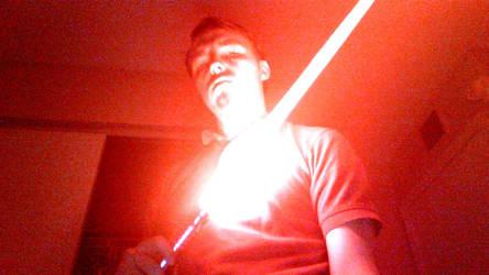 My Orange lightsaber by FelgrandKnight34