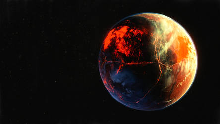 The Lava planet by QuickBoomCG