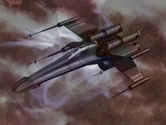 Incom T-65 XJ-5 Stealth X-Wing by RavingDork