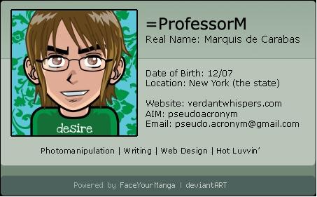ProfessorM's Profile Picture