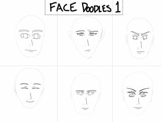Doodle #1 - Faces by coolsuperj