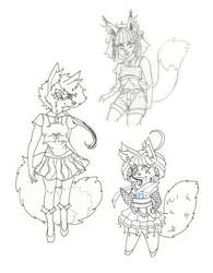 Some OC furries by Eloylie