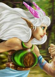Elf Running by Gkoumas