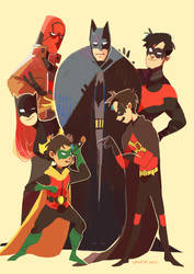 the batfamily by LaWeyD