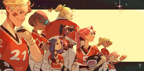 the cheer squad by LaWeyD