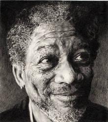 Morgan Freeman by immith