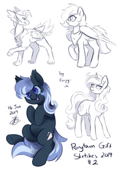 Ponytown Gift Sketches 02 by Chirpy-chi