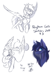 Ponytown Gift Sketches 03 by Chirpy-chi