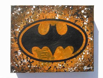 Batman Logo (orange) by bubblesfay