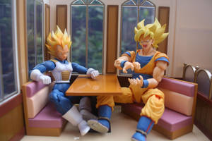 Never Keep a Saiyan Waiting for Food by here-and-faraway