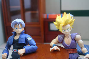 Gohan and Trunks by here-and-faraway