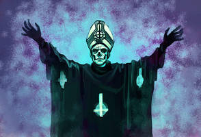 Papa Emeritus II by cryo-draws