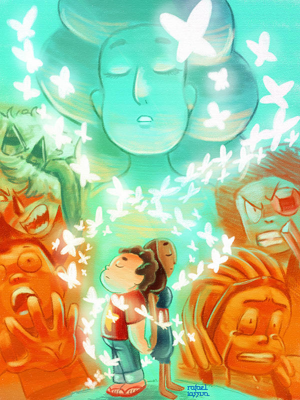 Digital Art Fan Art - Steven Universe Experimental Art