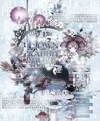 Down the Rabbit Hole December 2018 MAL Layout by breakyourvibes
