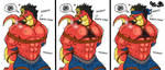 Tiranossaur Wrestler in Trouble by Onodera-kun
