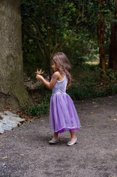 Ella Holding Leaf by Jeni-Sue