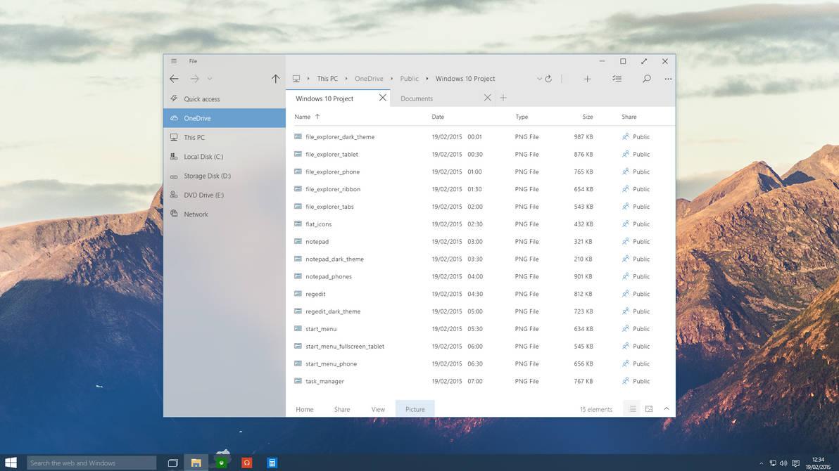Windows 10 - Tabs in File Explorer by Metroversal
