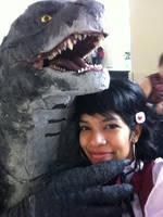 Selfie with Godzilla by Taiyou-Shoujo-01
