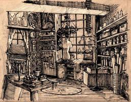 Dream shop illustration by grenia