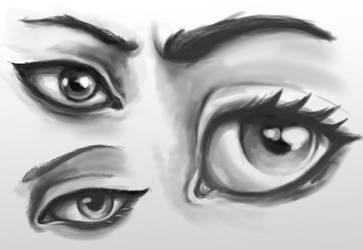 Eye practice by TurboSolid