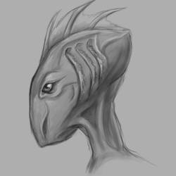 aquatic creature face by TurboSolid
