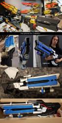 Soldier 76 Heavy Pulse Rifle NERF Stampede gun! by Furipteridae