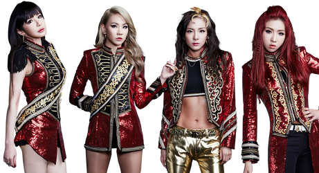 2NE1 Render PNG by classicluv