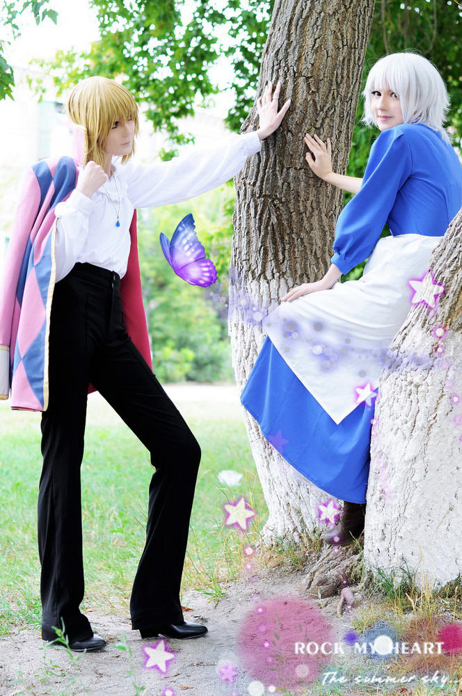 Howl + Sophie: Hey, babe? by palecardinal