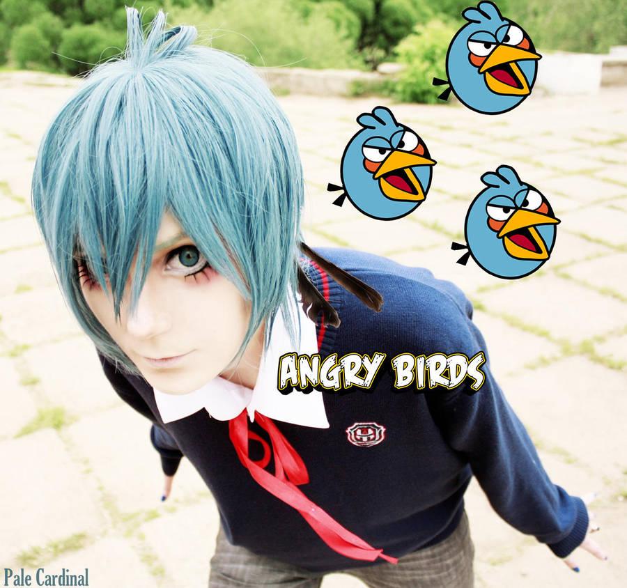 Aaangry Blue Bird :3 by palecardinal