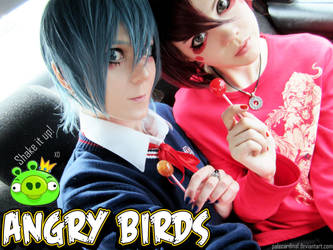 Angry birds: Red + Blue = 2 candy bishies XD by palecardinal