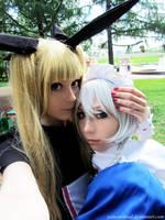 Rachel Alucard + Sakuya Izayoi by palecardinal