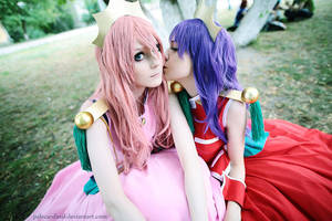 Utena + Anthy: be my Rose bride! by palecardinal