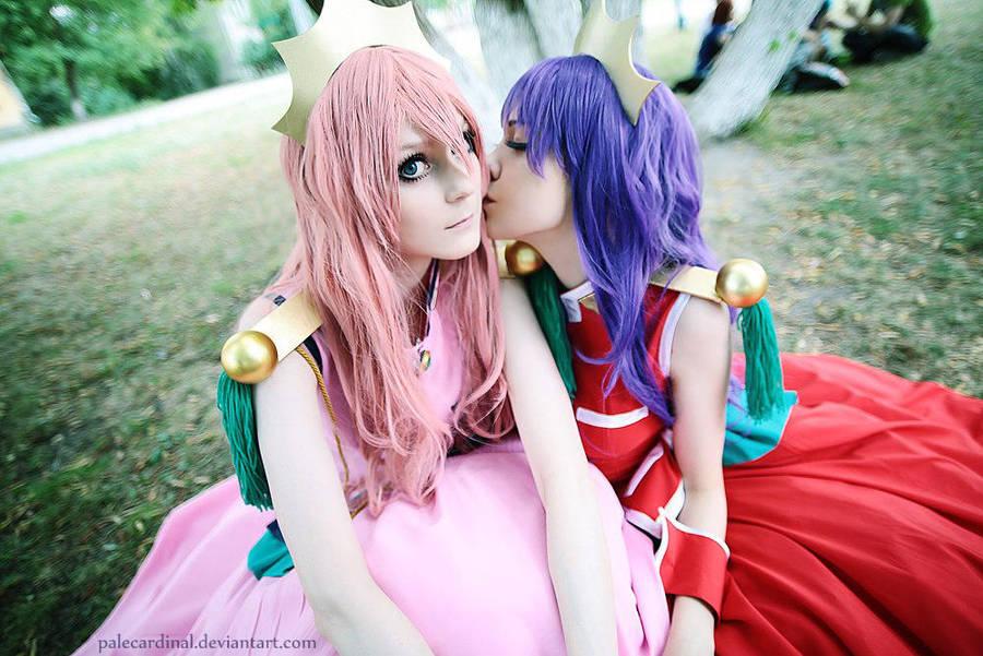Utena + Anthy: be my Rose bride! by palecardinal