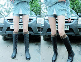 My legs today by palecardinal