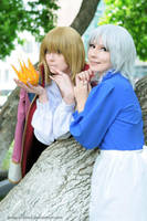 Howl + Sophie: happy family by palecardinal