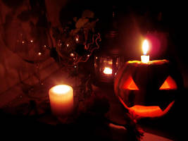 Romantic Halloween for two by palecardinal