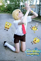 Sponge Bob cosplay: Oh, God by palecardinal