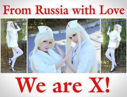 X JAPAN Nurses Cardinal Lazurit by palecardinal