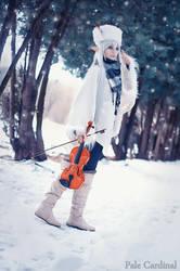 Snow Minstrel Elf by palecardinal