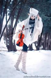 Winter Violin Elf by palecardinal