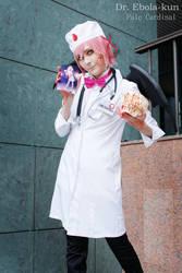 Ebola-kun + Ebola-chan fever by palecardinal