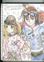 Jimmy and Cindy Snowboarders by KumoriNinja08