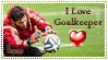 I Love goalkeeper (Stamp) by Dasha-Ukrainian