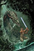 Star Wars: Luke + Dragonsnake by daxiong